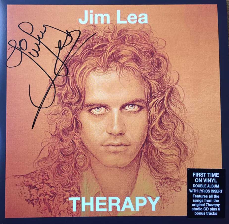 Signed 2LP Therapy by Jim Lea.