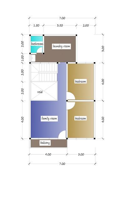 2nd floor plan of beautiful house plan 20