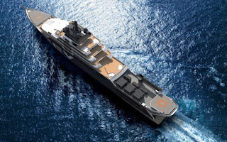 REV el barco del noruego Kjell Inge Røkke desde el aire