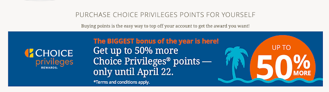 Buy Choice Privileges Points and Get Up To 50% Bonus