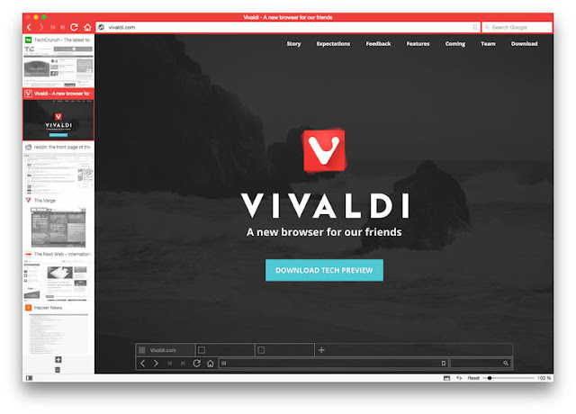 Vivaldi, An advanced browser made with the power user in mind