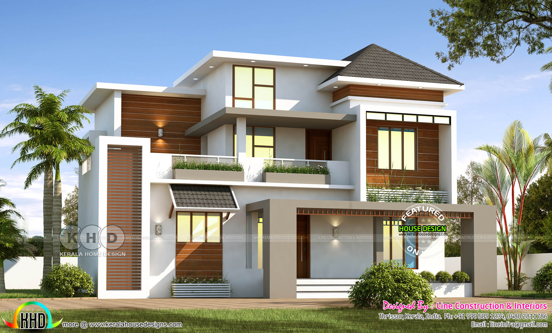 1852 square feet 4 bedroom beautiful modern home - Kerala ...