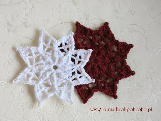 Szydełkowe dekoracje świąteczne cz.2 - Choinki, Dzwoneczki i Gwiazdki, śnieżynki :)