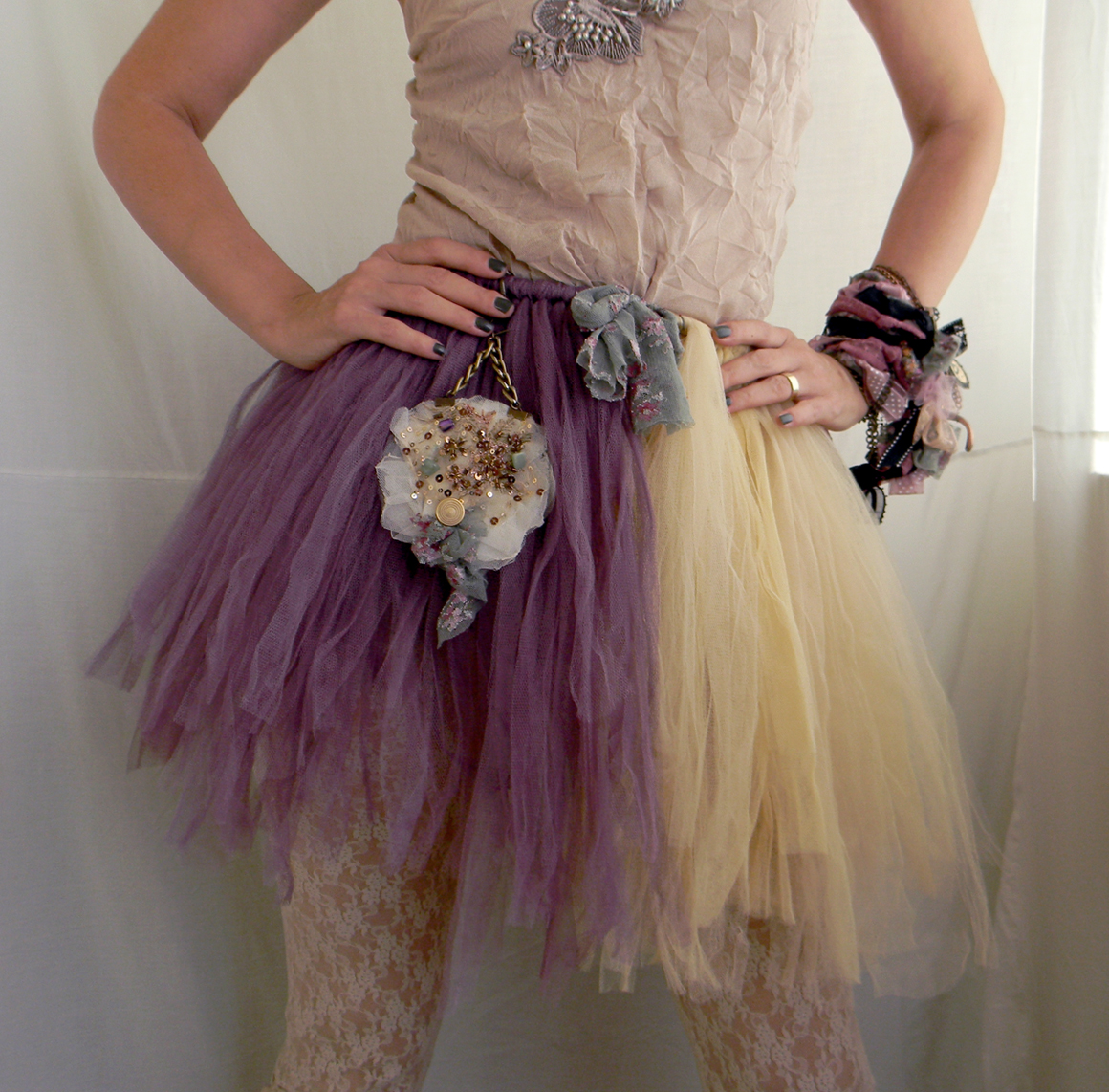 Handmade Tutu Pixie Tattered Skirt