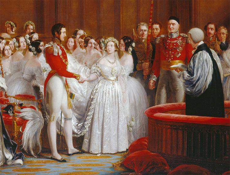 Le mariage de la Reine Victoria, par Hayter,détaile