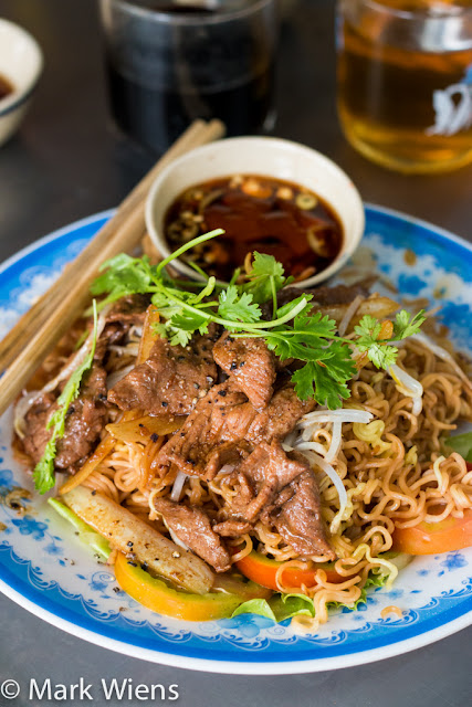 noodles and beef in Saigon VN