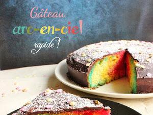 1 an et gâteau arc-en-ciel facile et rapide !