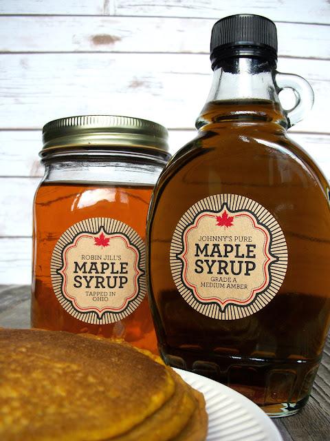 Custom kraft paper maple syrup labels