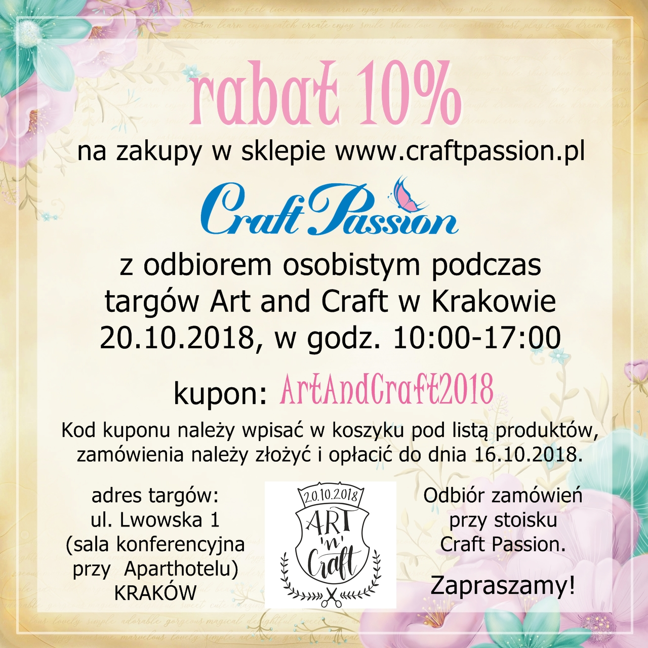 Art and Craft Kraków 20.10.2018
