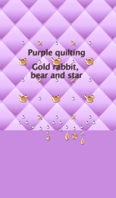 Purple quilting(Gold rabbit, bear,star)