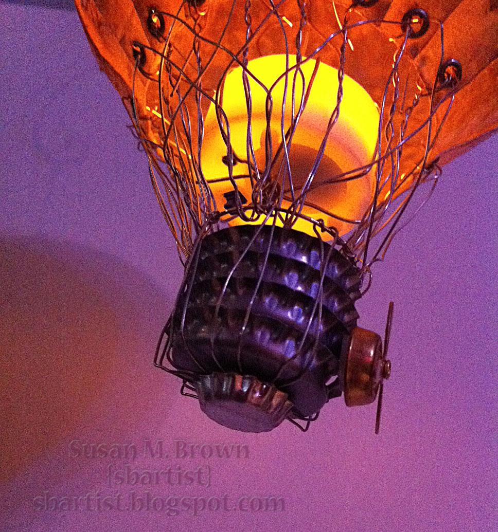 Sakura Hobby Crafts: Steampunk Airship Balloon takes you Up, Up and