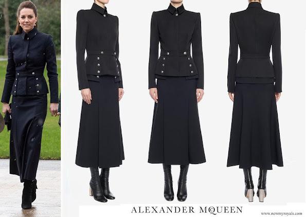 Kate Middleton wore Alexander McQueen Military Dress