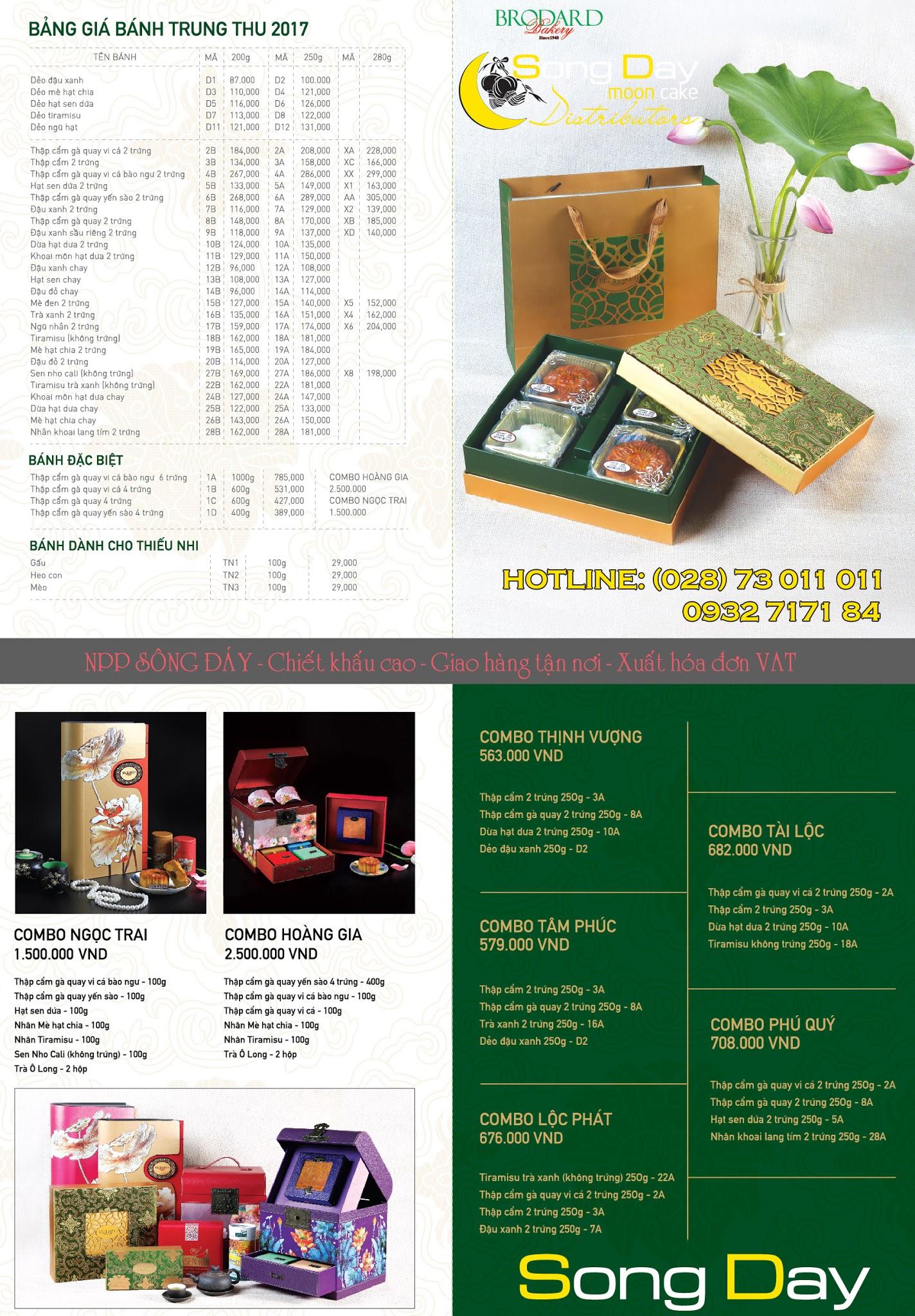 Catalogue tổng hợp Bánh trung thu Brodard 2018