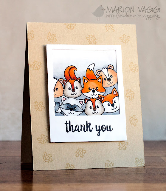 Sunny Studio Stamps: Woodsy Creatures Polaroid Thank You Card by Marion Vagg