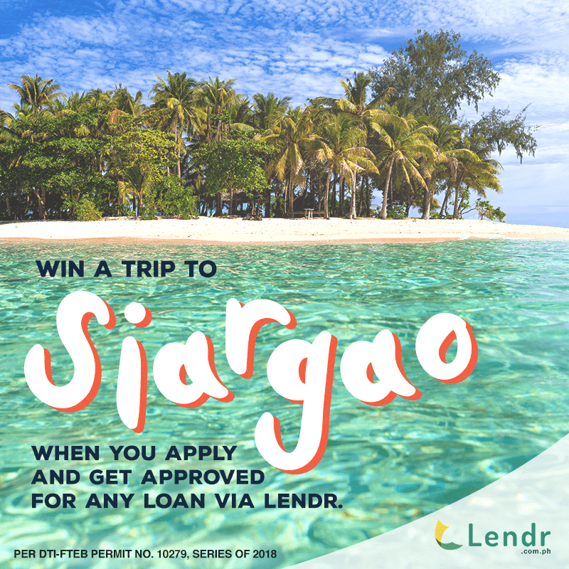 Get a chance to go to Siargao with Lendr
