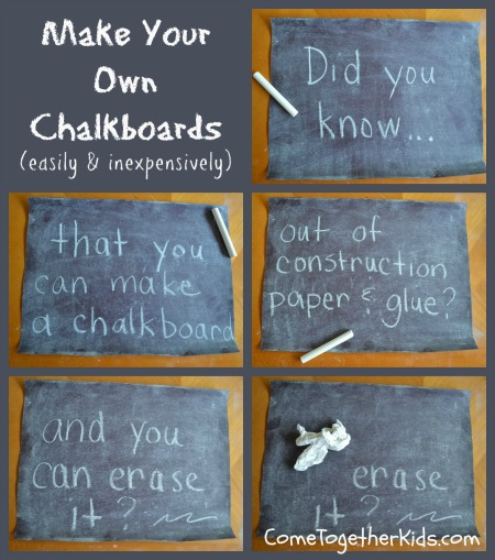 Make Your Own Chalkboard with Paper and Glue!  Lesson Plans