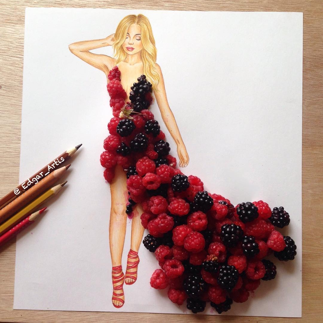 19-Raspberry-Blackberry-Edgar-Artis-Drawings-that-use-Flowers-Food-and-Objects-www-designstack-co