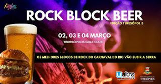 Rock Block Beer em Teresópolis começa nesta sexta, 02/03, e vai até domingo, 04/03/18