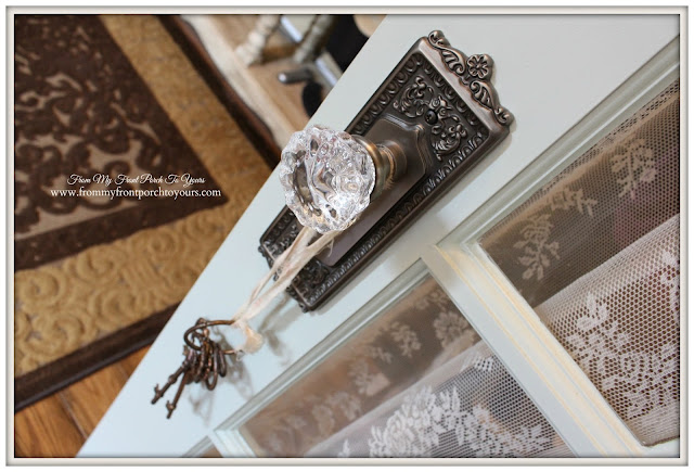 Crystal Door Knobs-French Country Home Office- From My Front Porch To Yours
