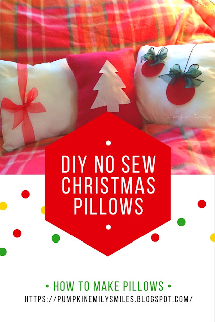 Cute DIY No Sew Christmas Pillows | How To Make No Sew Pillows | DIY Room Decor Ideas for Christmas