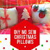 DIY No Sew Christmas Pillows