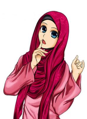 kartun islami, kartun muslimah lucu