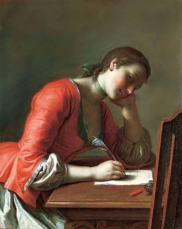 Ротари Пьетро Антонио (1707-1762) Девушка, пишущая любовное письмо www.womanpaint.blogspot.ru
