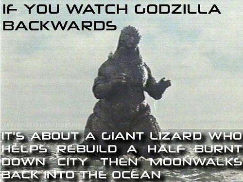 watching godzilla backwards