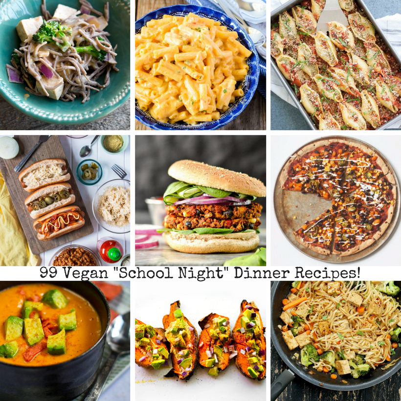 99 vegan school night dinner recipes back to school season is in full swing and that means busy nights new schedules to get used to and lots and lots of meal prep for school lunches forumfinder Choice Image