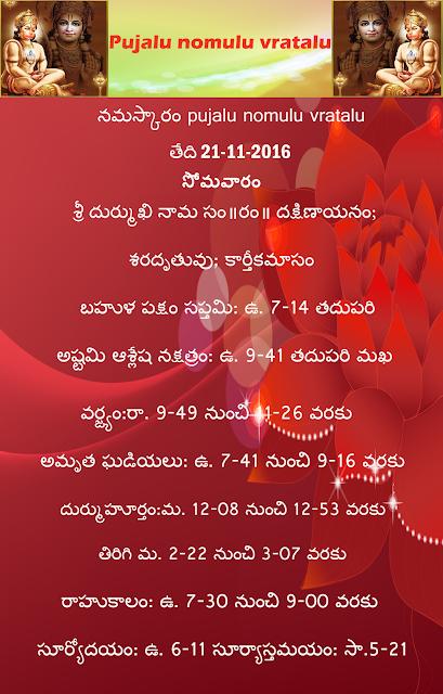 Today's panchchagam in Telugu ,rasiphalalu