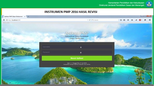 Download instrumen PMP 2016 Hasil Revisi GRATIS