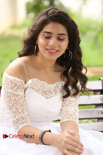 Actress Tejaswini Pictures in White Dress at Lachhi Teaser Launch  0097.JPG