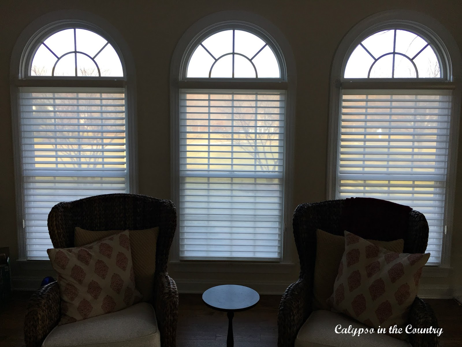 Shades on arched windows