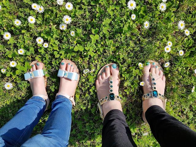 Estate 2019: Sandali mamma e figlia di Moda Positano Artigianino