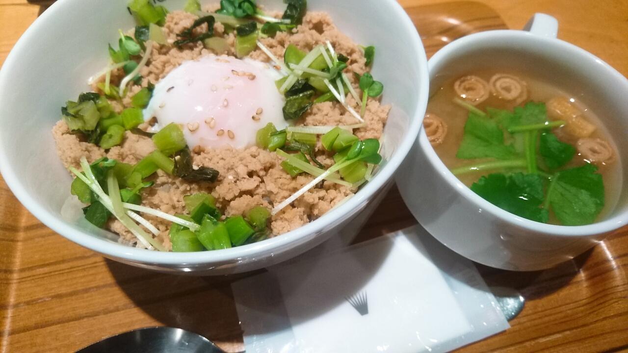 【第2回カフェごはん】nana's greeen tea そぼろドン