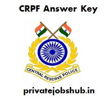 CRPF Answer Key