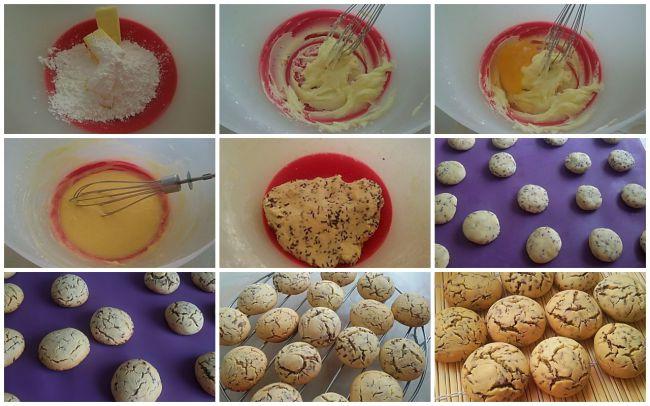 Preparación de las Galletas de arroz con fideos de chocolate