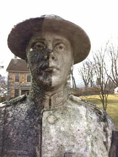 Weiser doughboy statue during cleaning BRHoward