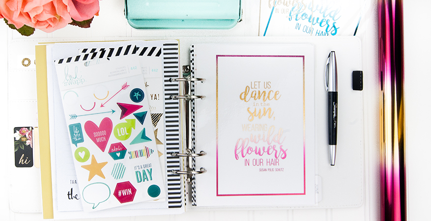 MINC freebie + my May 2016 Memory Planner Pages | Maggie Massey for Heidi Swapp