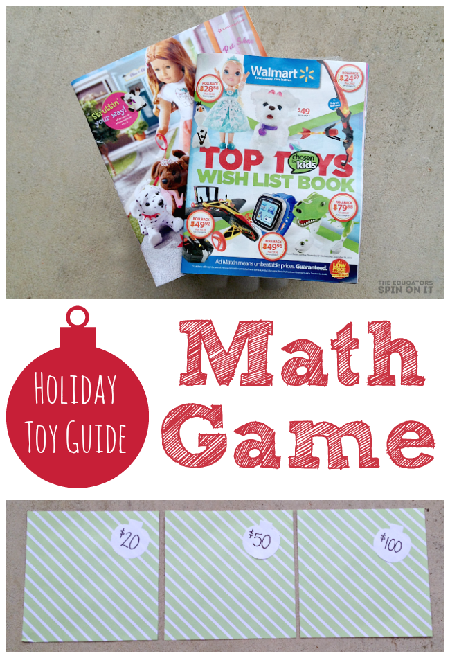 Holiday Toy Guide Math Game for Kids from The Educators' Spin On it