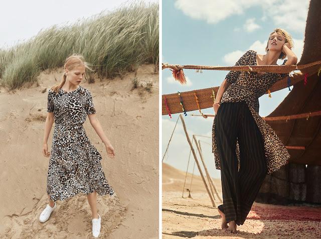 Леопардовое платье свободного кроя с брюками