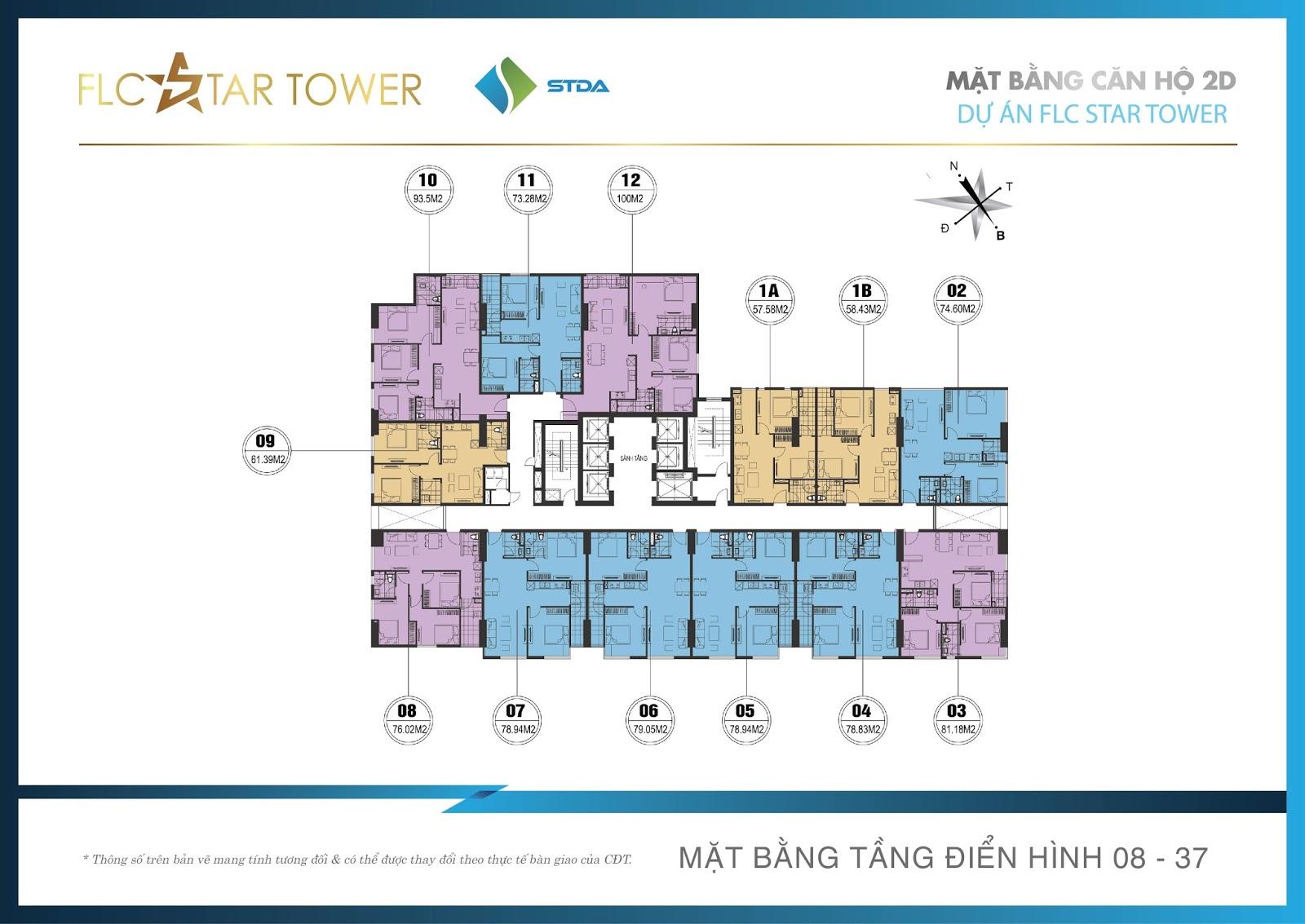Hình ảnh măt bằng thiết kế dự án FLC Star Tower Hà Đông