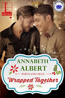 romance novel cover, M/M romance, holiday romance, Wrapped Together by Annabeth Albert