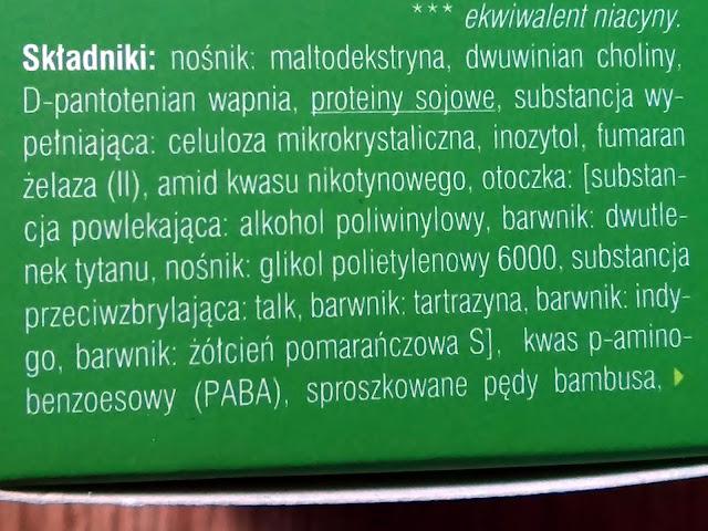 Vitapil, biotyna + bambus - mocne, lśniące włosy, skład tabletek