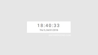 Code tạo đồng hồ, ngày tháng năm chuẩn đẹp bằng js cho Blogspot