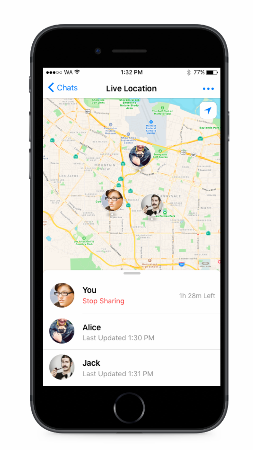 WhatsApp Adds live location Sharing in New Update » Devicecosmos