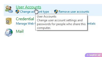 Klik Lagi User Accounts - Cara Mengganti Nama Account di Laptop Windows 10