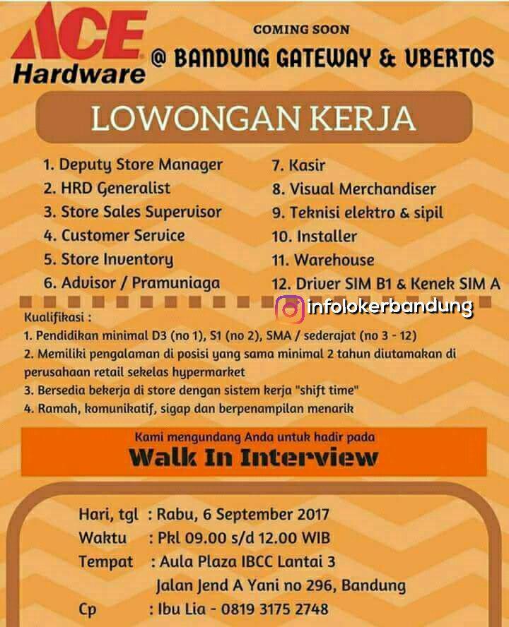 Lowongan Kerja Acer Hardware ( Walk In Interview ) 6 September 2017