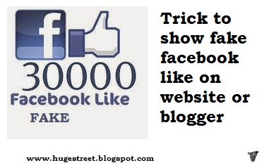 How To Show Fake Facebook Like Box on Website