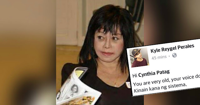 Open letter to Cynthia Patag: You are very old, your voice does not have substance anymore